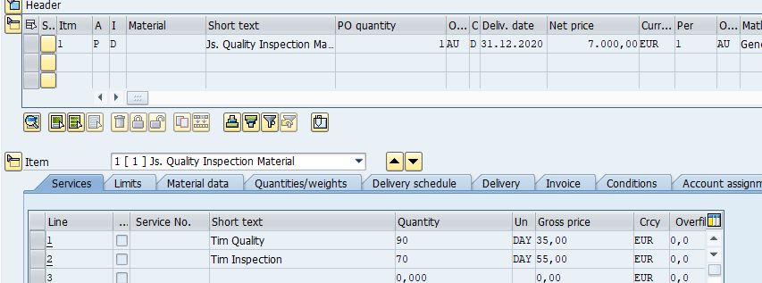SAP Purchase Order